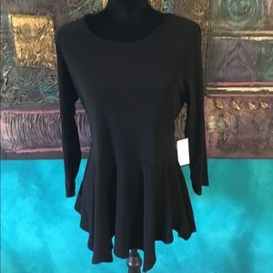 Black tunic with hi/low hem